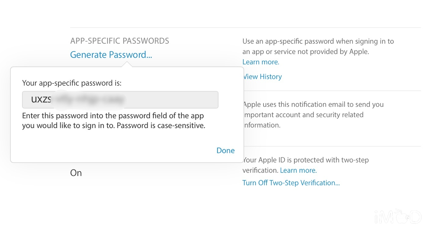APP-SPECIFIC PASSWORDS