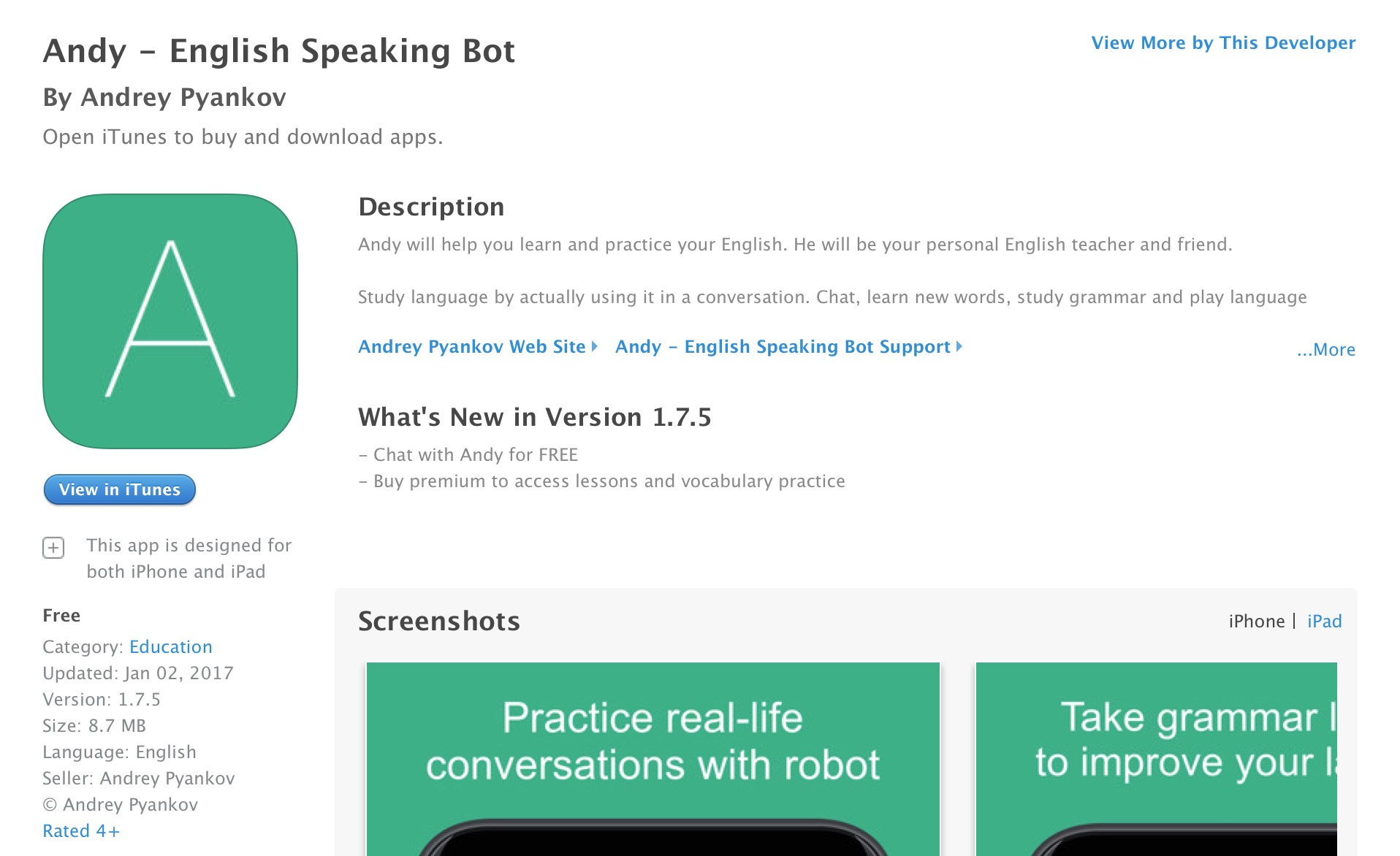 andy speak bot