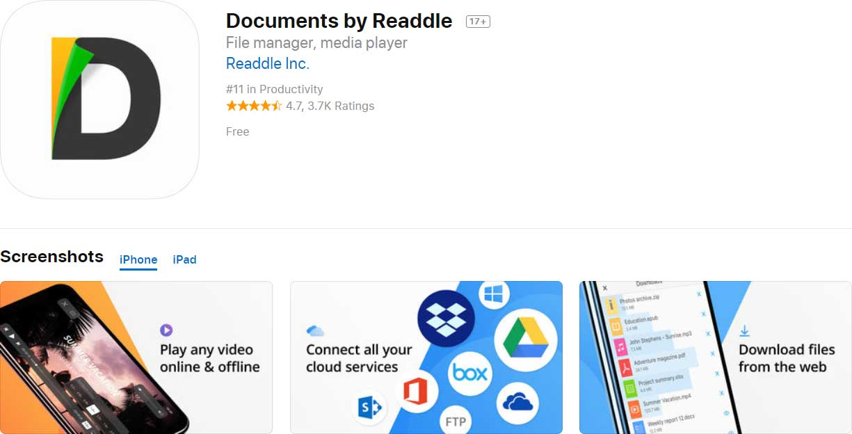 App Documents By Readdle Content1