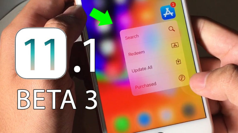 Ios11 1 Beta 3 Fix 3d Touch