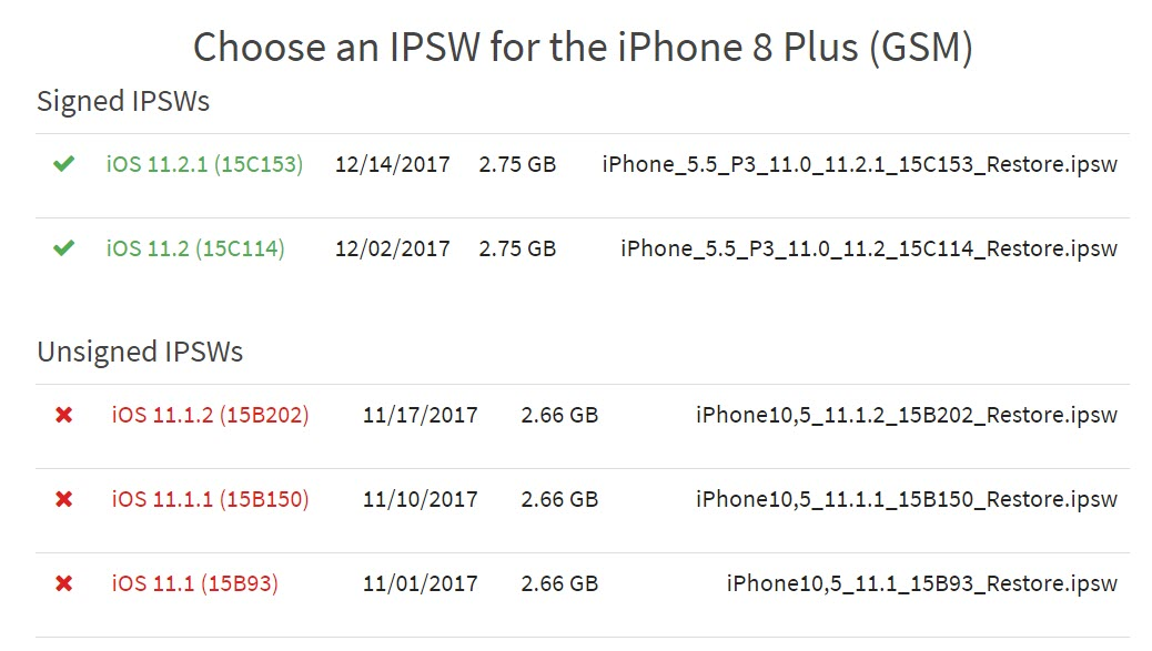Apple Stop Signing Downgrade Ios 11 1 2 1