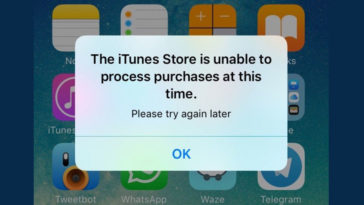 The Itunes Store Is Unable To Process Purchases At This Time