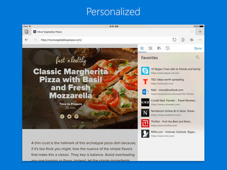 Microsoft Edge Browser For Ios Pad Support