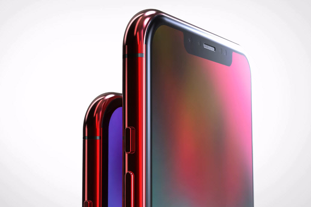 Iphone X X Plus Red Concept 003
