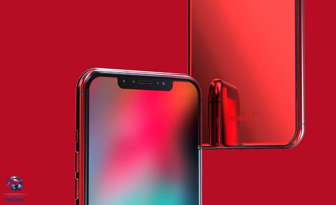 Iphone X X Plus Red Concept 011