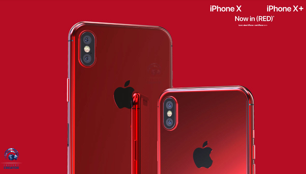 Iphone X X Plus Red Concept 013