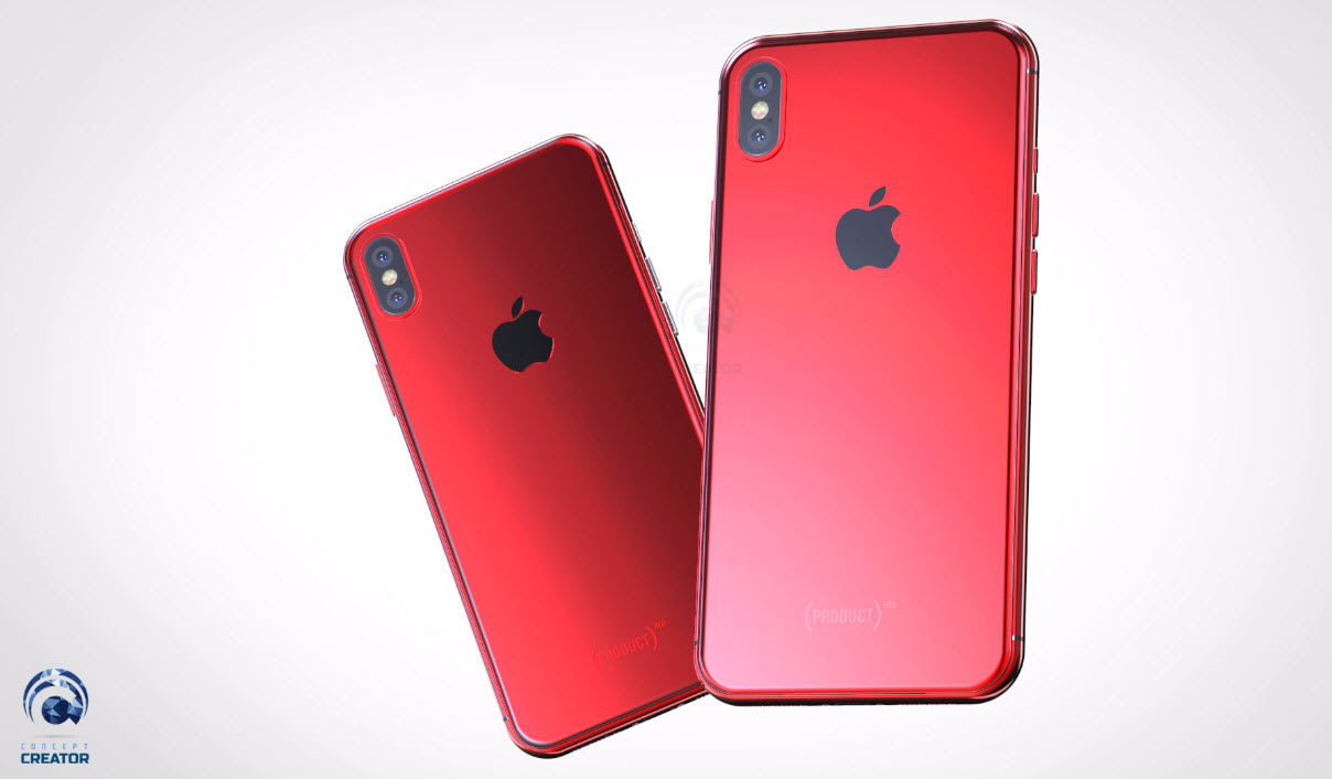 Iphone X X Plus Red Concept 014