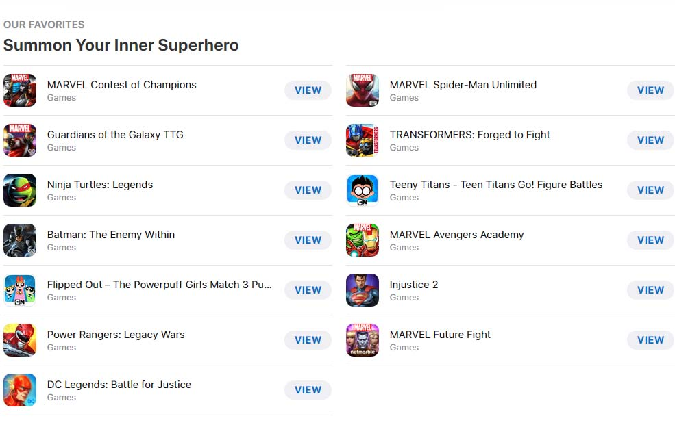 Superhero Mobile Games Cover2