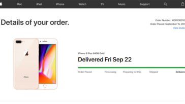 Apple Redesign Orders Page Website