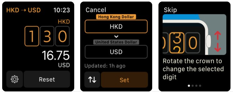 Apple Watch Daily Life App Elk Travel Currency Converter