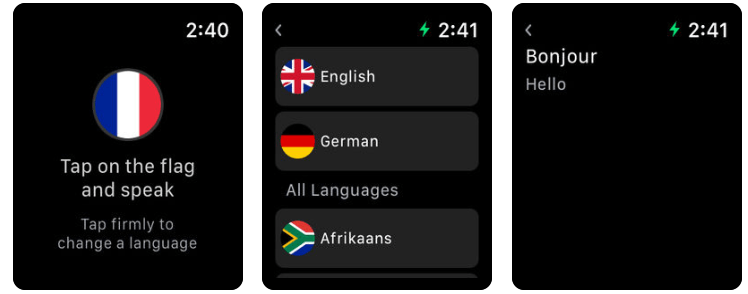 Apple Watch Daily Life App Mate Translator