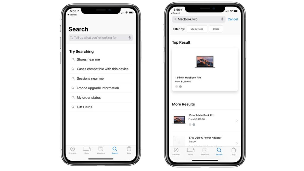 Apple Store New Update Search And Interface 2