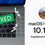 Macos High Sierra 10 13 6 Supplemental Update 2 Crackling Speakers Fixed