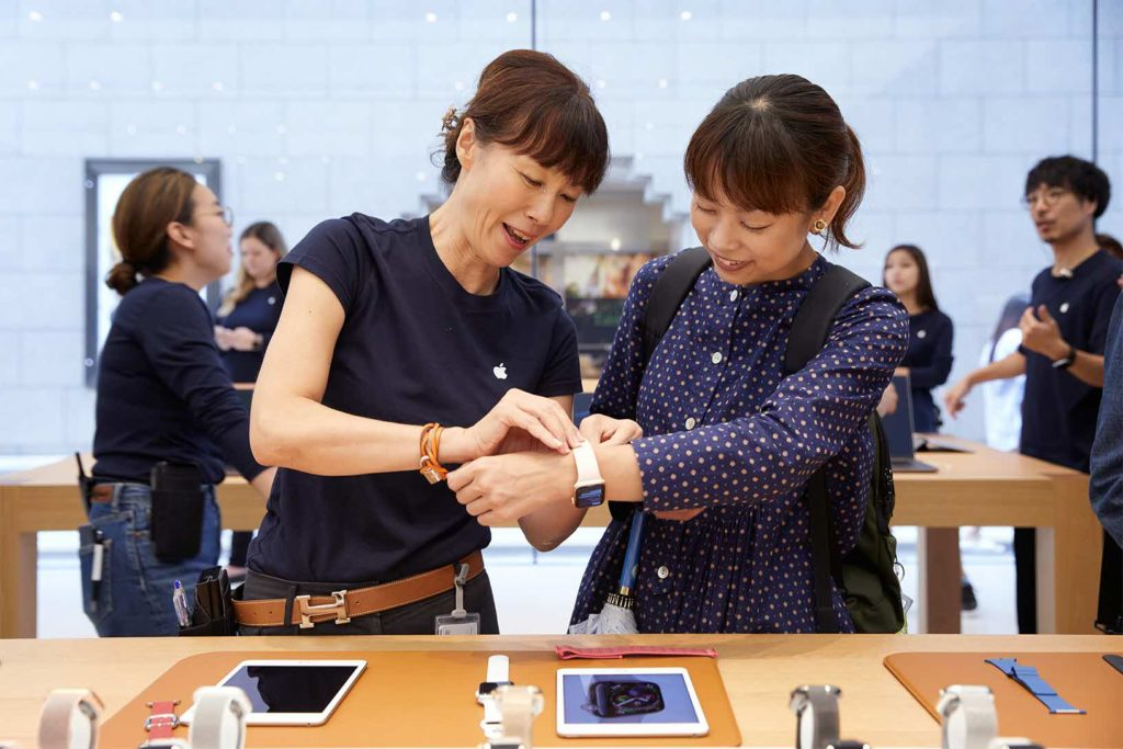 Iphone Xs Apple Watch Series 4 Availability Kyoto Apple Team Member 09202018