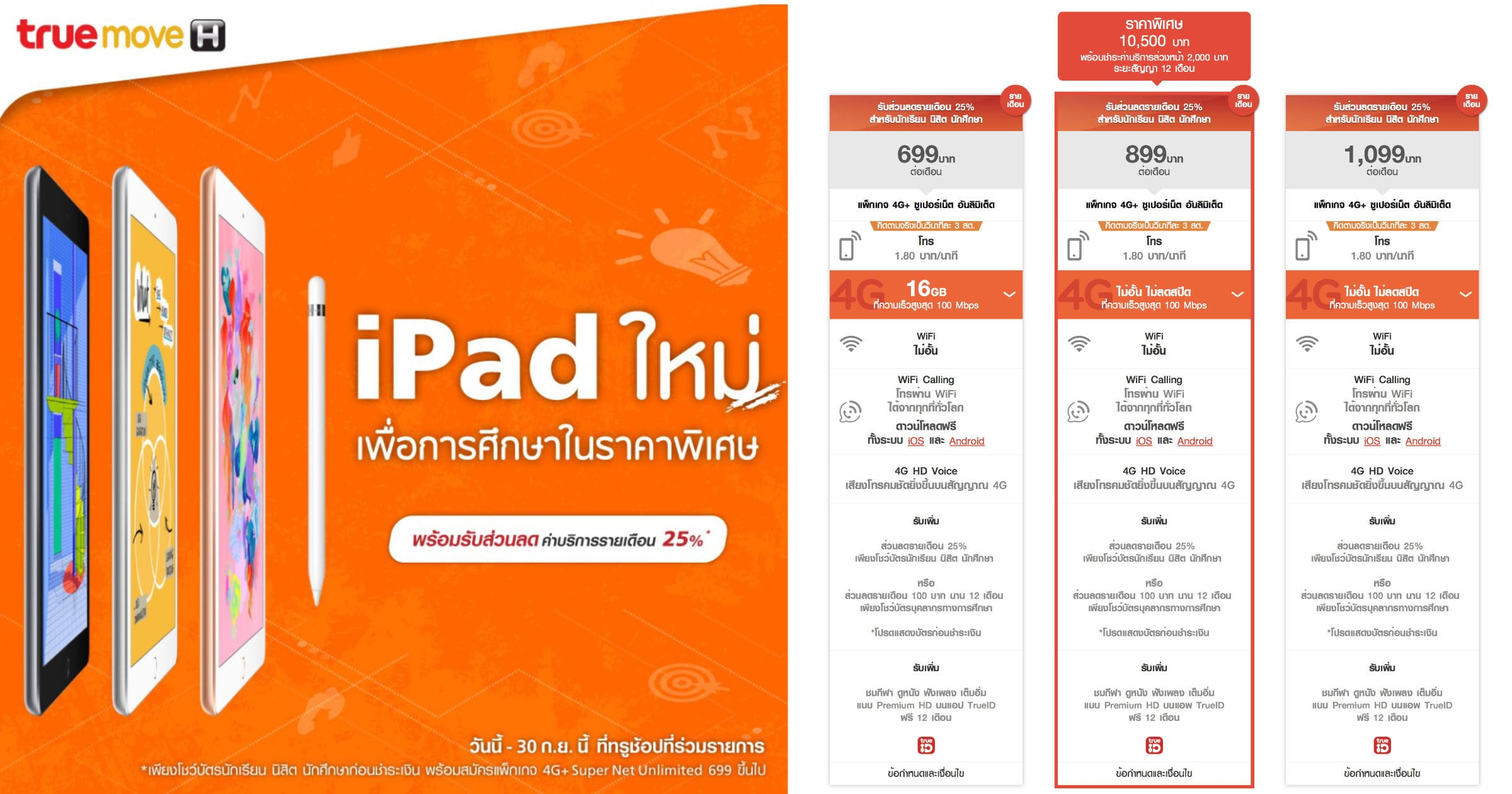Ipad 2018 Cellular Truemoveh Promo