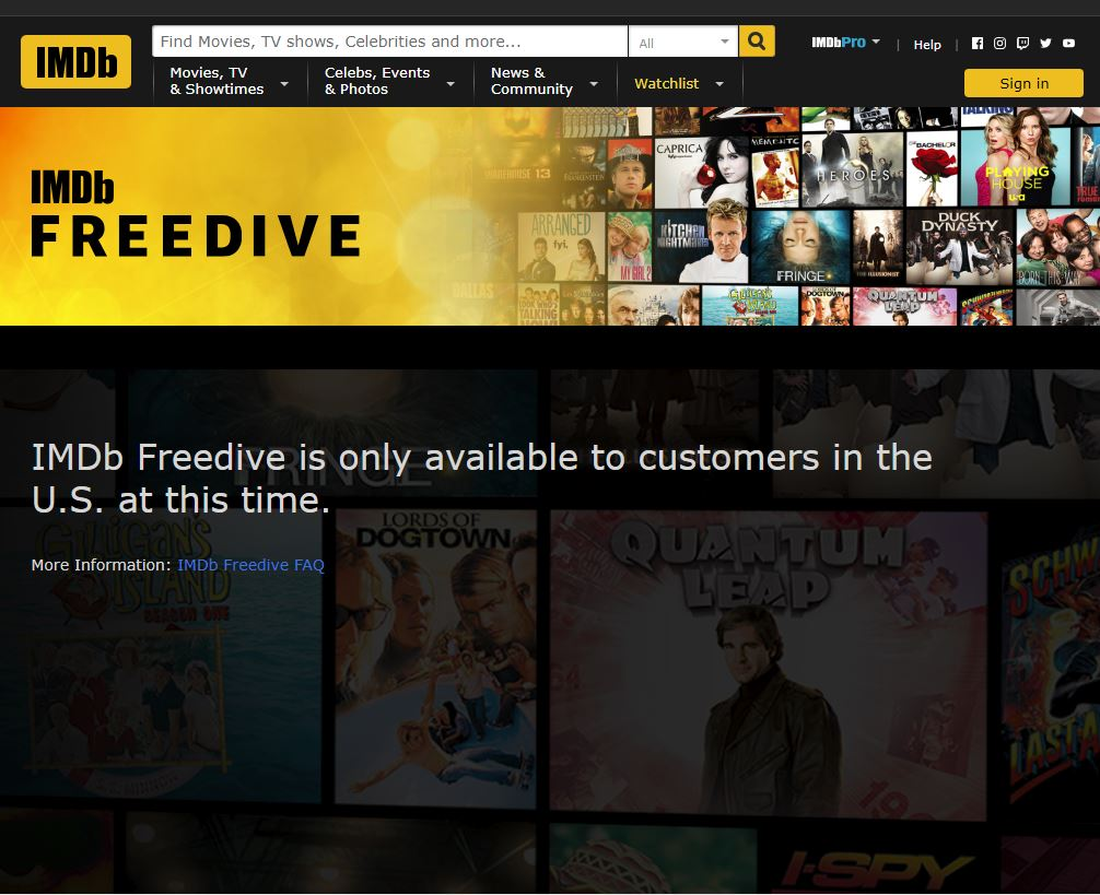 Imdb Freedive Website