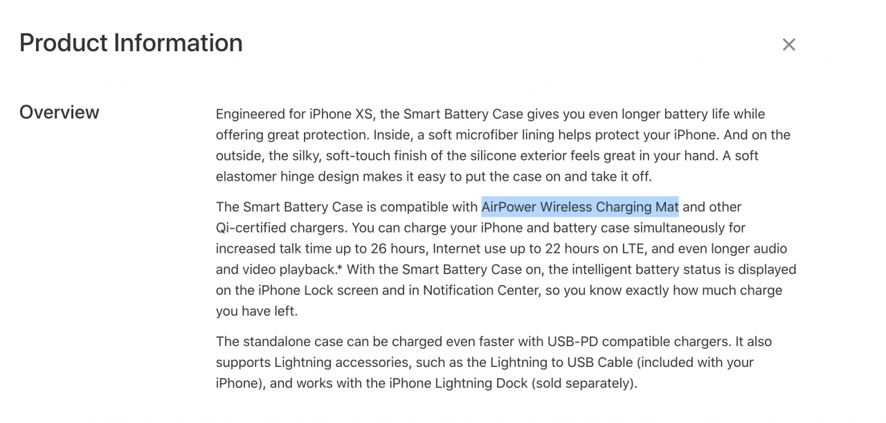 Airpower Spotted Iphone Xs Smart Battery Case Accidentally Img 1