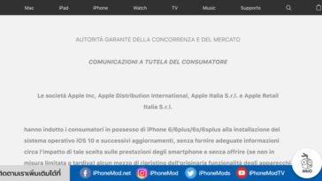 Italian Apple Homepage Iphone Battery Throttling Advisory