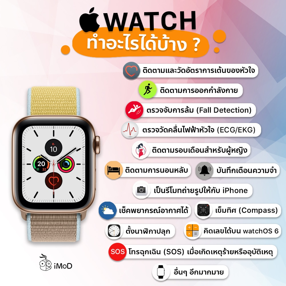 Apple Watch ทำอะไรได้